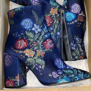 Zara Floral Booties